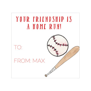 Baseball Valentine's Tags