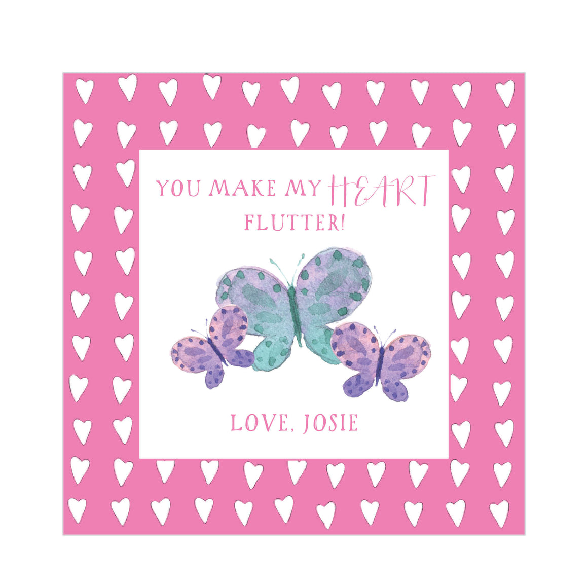 Butterfly Valentine's Tags