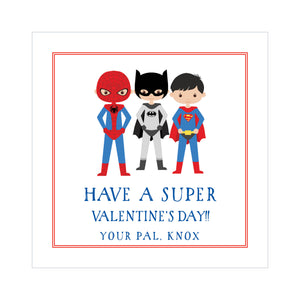 Superhero Valentine's Tags