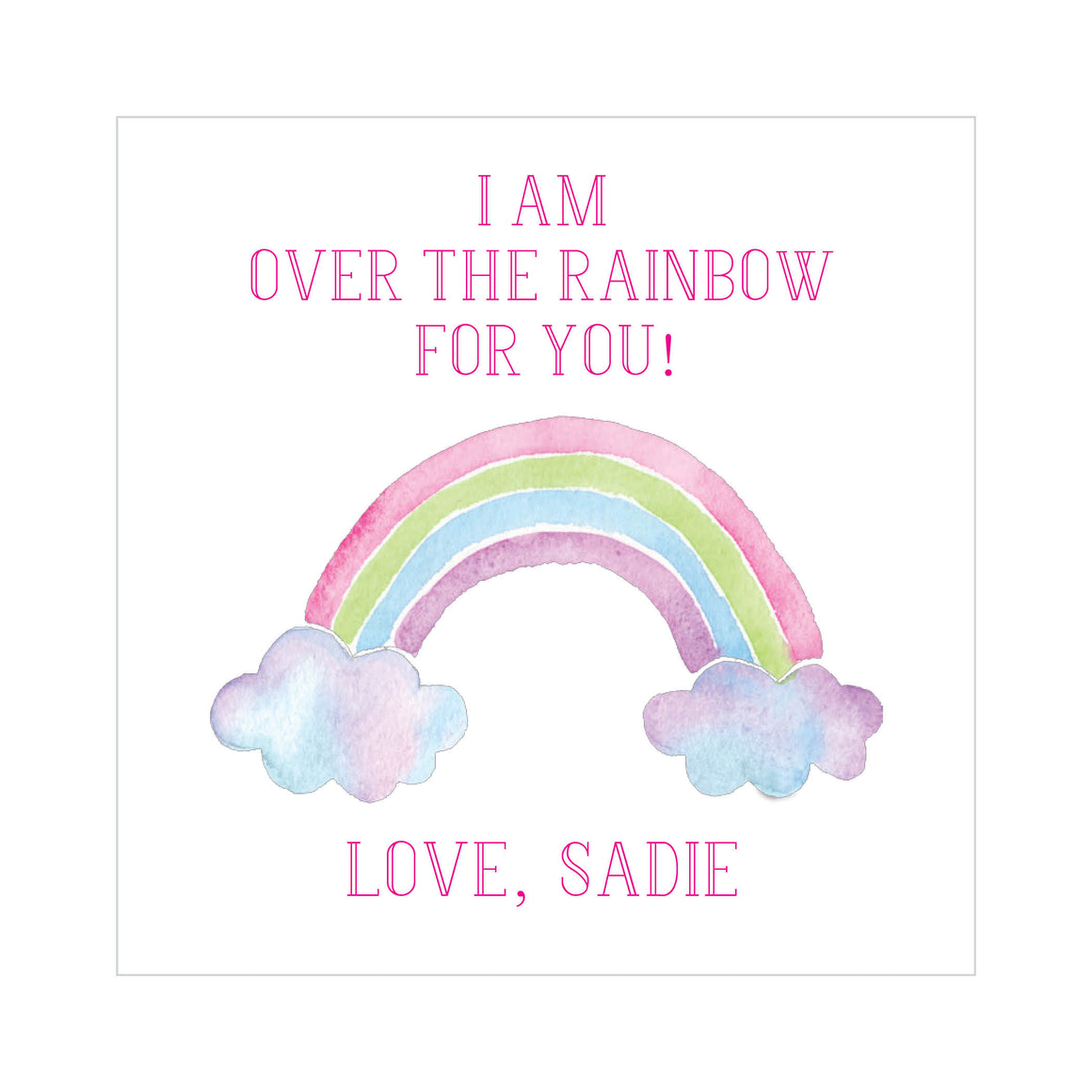 Over the Rainbow Valentine's Tags