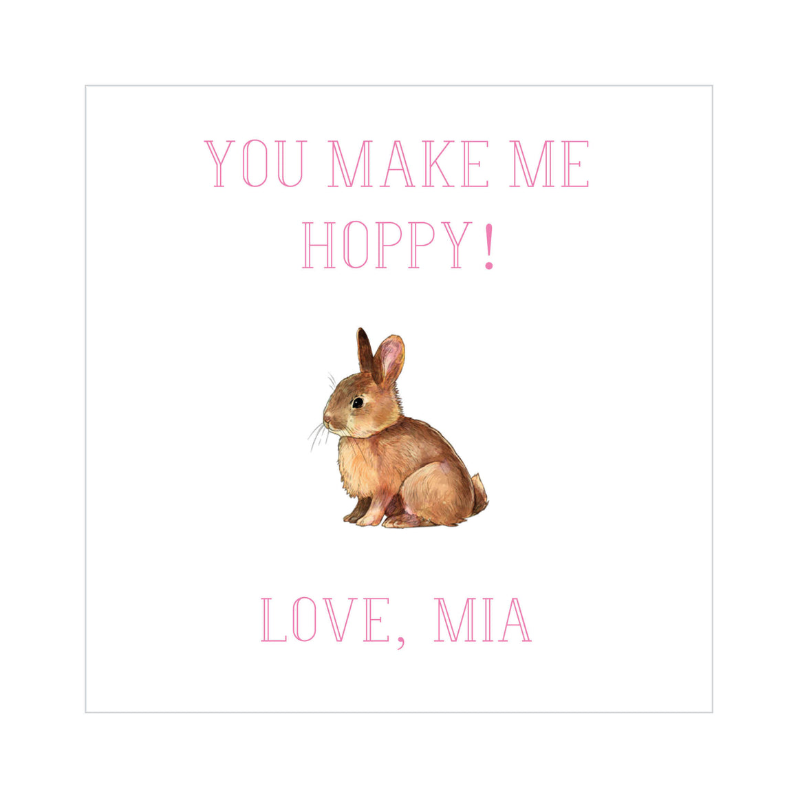 Bunny- Pink Valentine's Tags