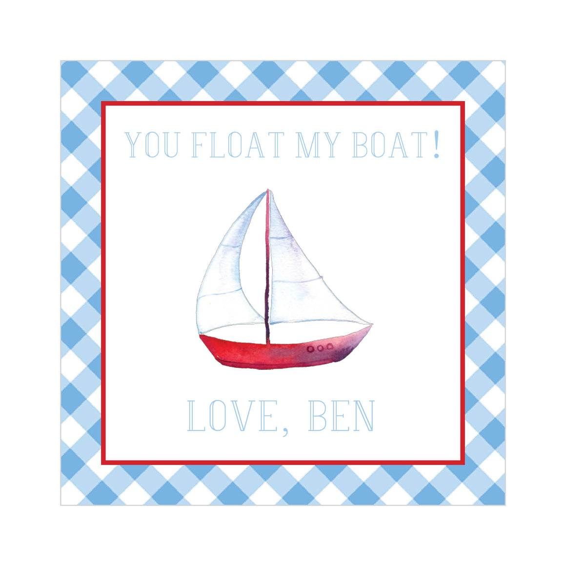 You Float My Boat Valentine's Tags