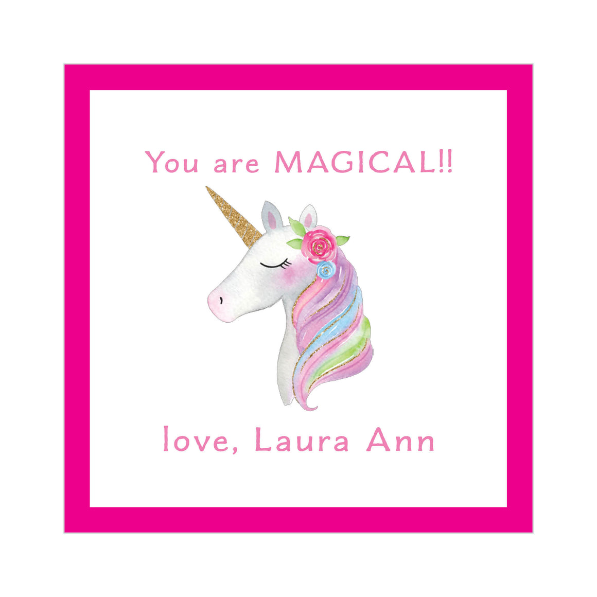 Unicorn Valentine's Tags