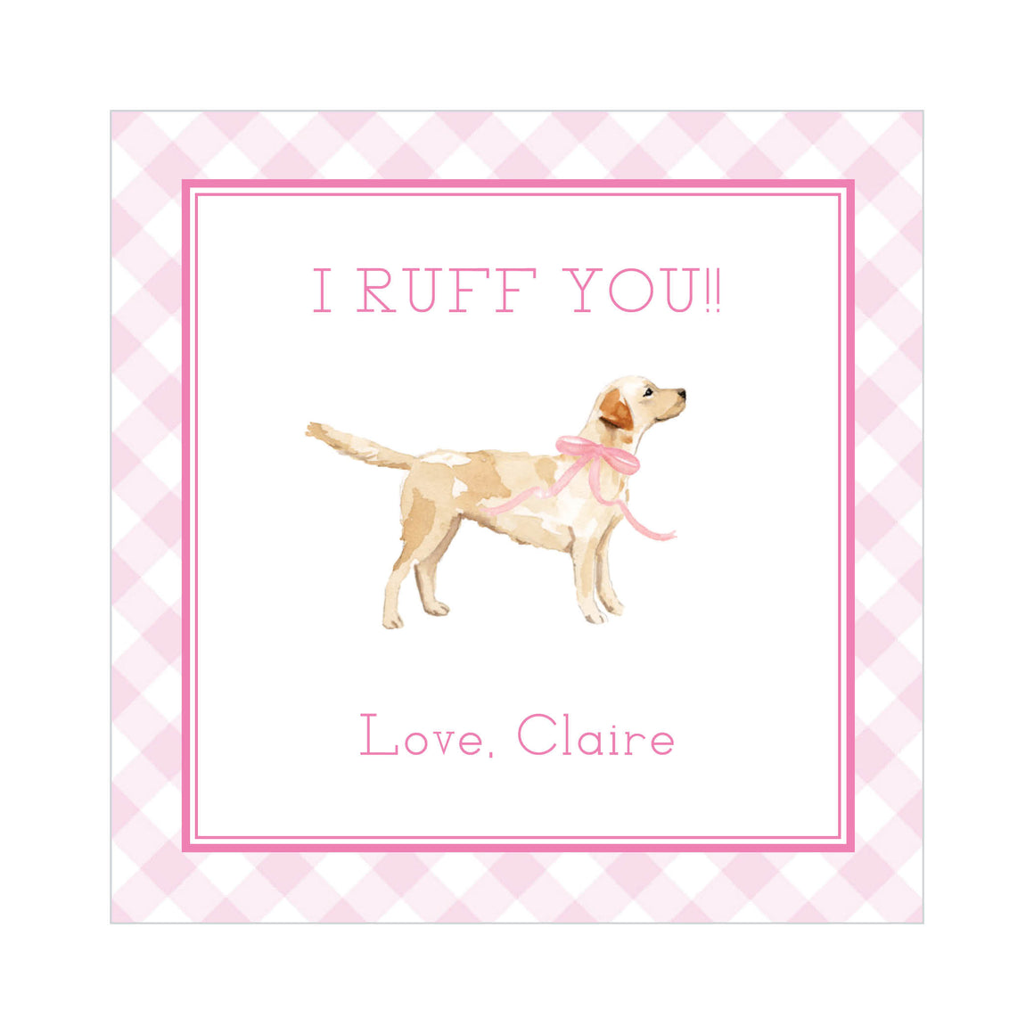 I RUFF YOU Valentine's Tags