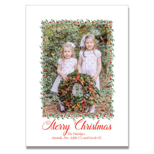Holly Garland Holiday Card