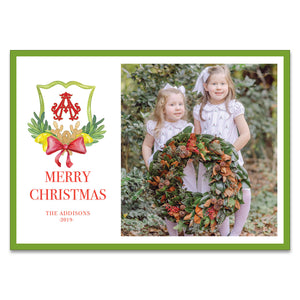 Pinecone Crest Holiday Card