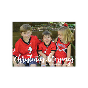 Christmas Blessings Holiday Card
