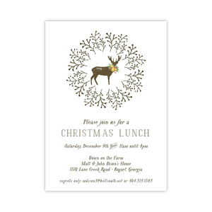 Christmas Wreath Holiday Lunch Card