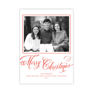 Classy Christmas Calligraphy Holiday Card