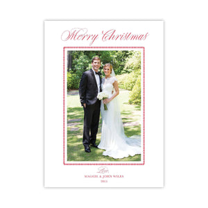 Dashing in Red Merry Christmas Holiday Card