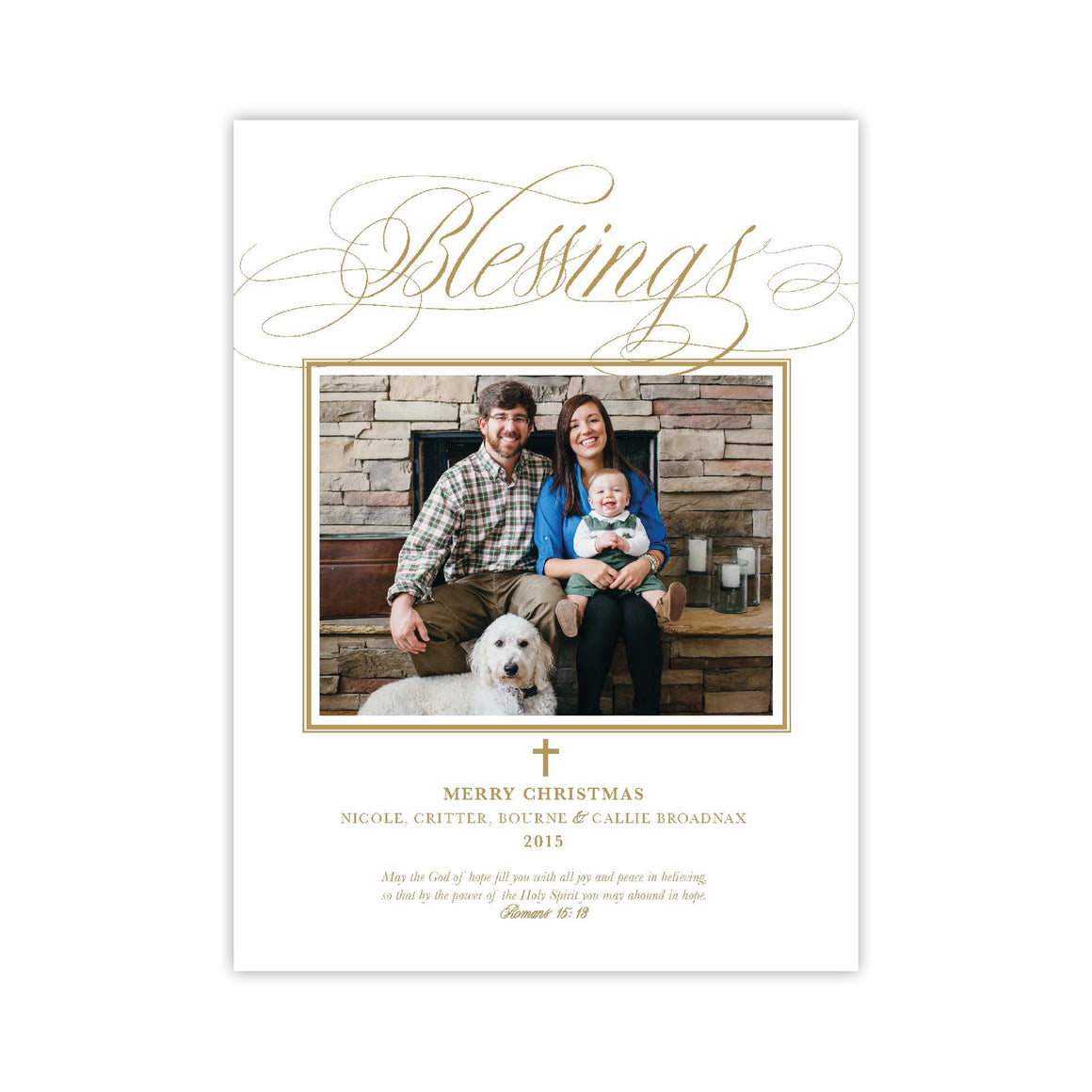Blessings Christmas Holiday Card