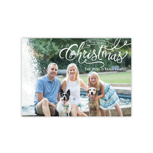 Christmas Calligraphy Holiday Card