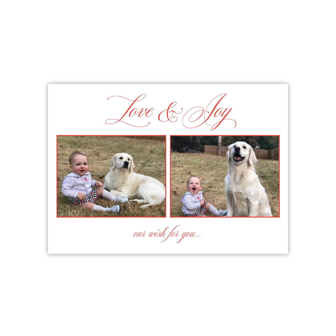 Love & Joy Christmas Holiday Card