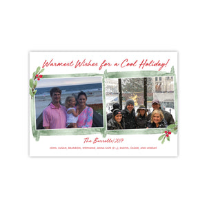 Warm Wishes Christmas Holiday Card