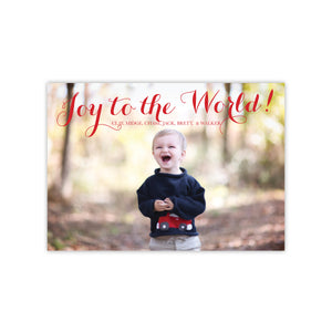 Joy to the World Christmas Holiday Card