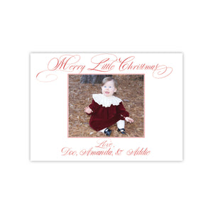Merry Little Christmas Holiday Card