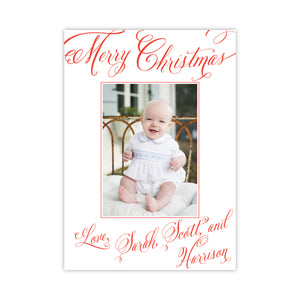 Love Lettered Calligraphy Christmas Holiday Card