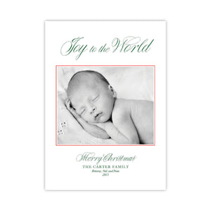 Joy to the World Holiday Card