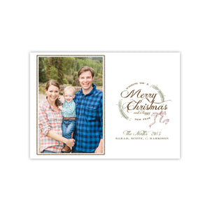 Montana Christmas Wreath Holiday Card