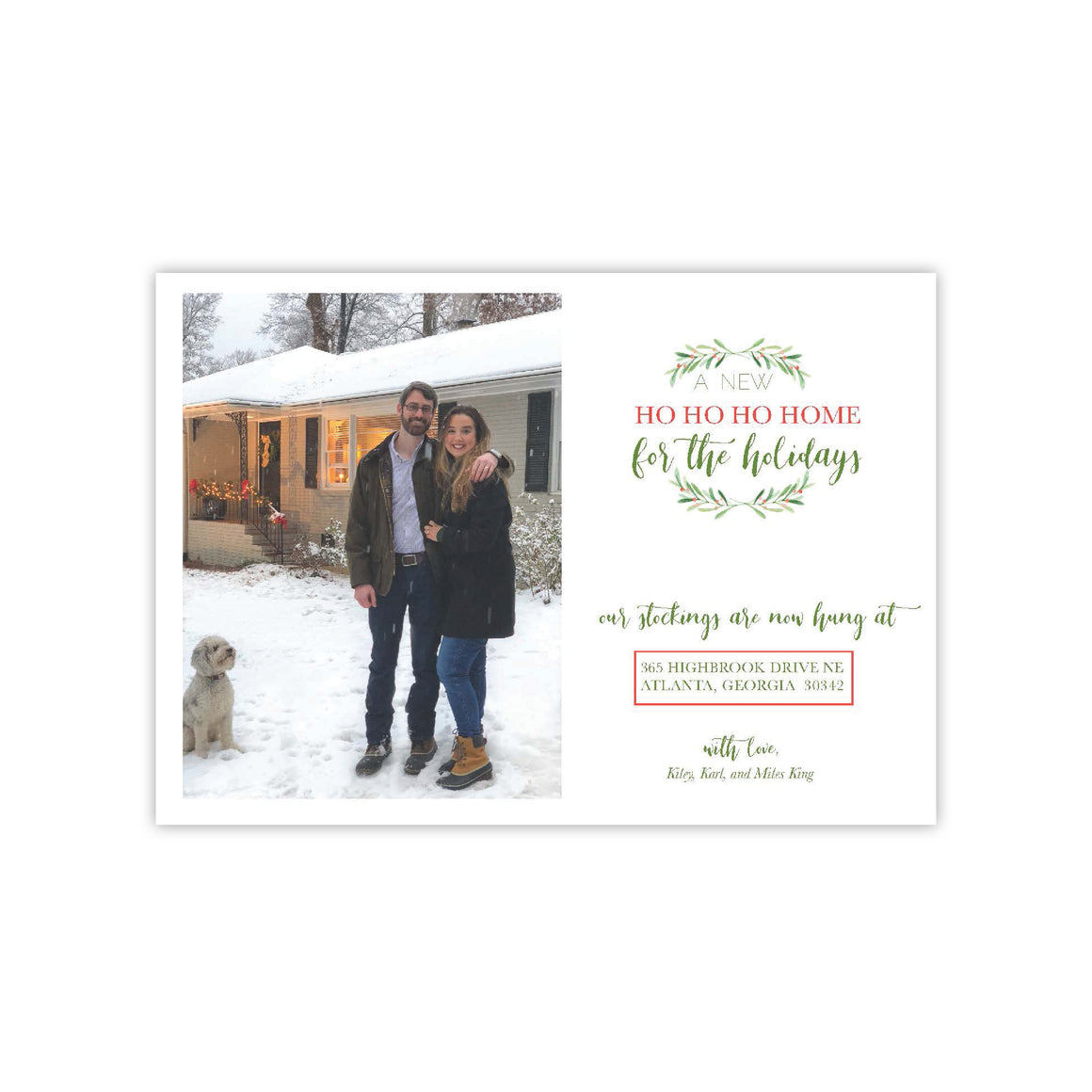 New Home for the Holidays  Card