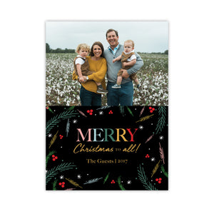 Merry Christmas To All Colorful Holiday Card