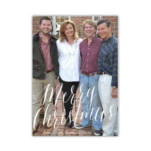 Modern Merry Holiday Card