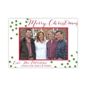 Confetti Christmas Holiday Card
