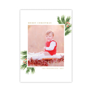 Pine Berry Merry Holiday Card