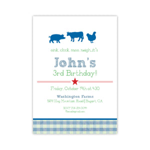 It's a Farm Birthday Party Invitation