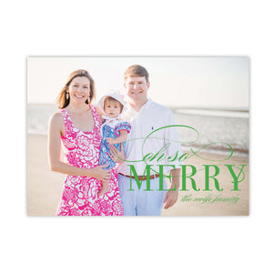 Oh So Merry Christmas Card