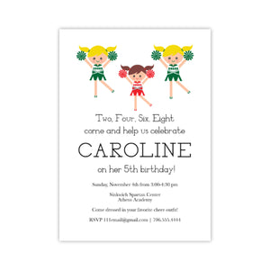 Cheerleading Birthday Party Invitation