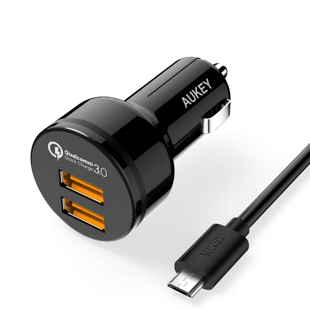 AUKEY CC-T8 Port Car Charger with Qualcomm Quick Charge 3.0