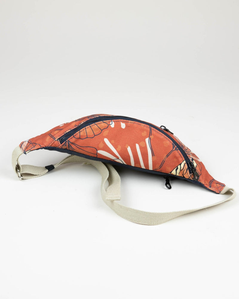Crossbody Waist Bag - Bulong Orange Tiger Print - Orange / Orange - Vildare
