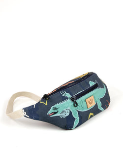 Crossbody Waist Bag - Cayman Colliers Print - Navy / Multi - Vildare