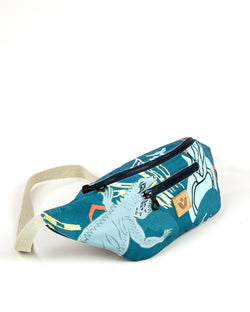 Crossbody Waist Bag - Cayman Colliers Print - Turquoise / Yellow - Vildare