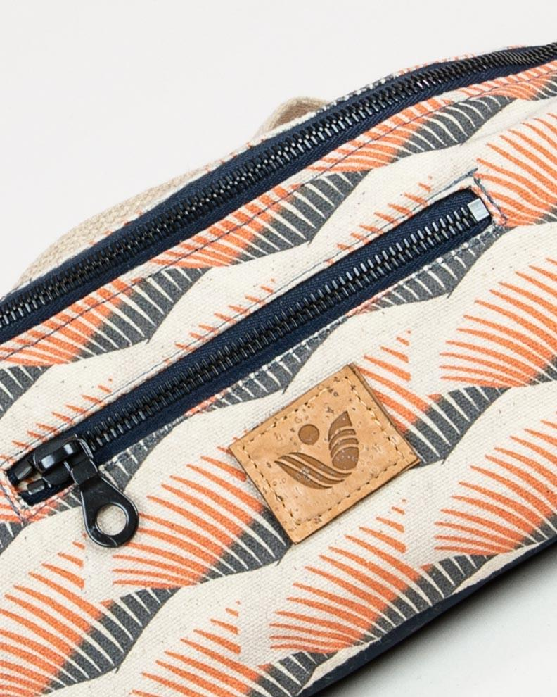 Crossbody Waist Bag - Fox Fan Print - Vildare