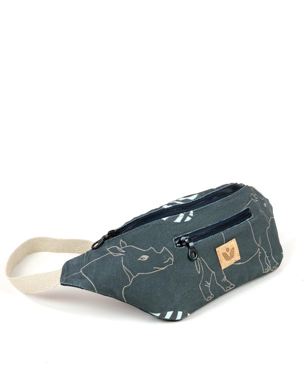Crossbody Waist Bag - Sumatra Rhino Print - Brown - Vildare