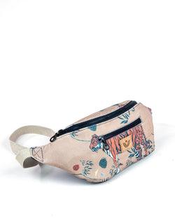 Crossbody Waist Bag - Sumatra Wild Print - Tan / Orange - Vildare
