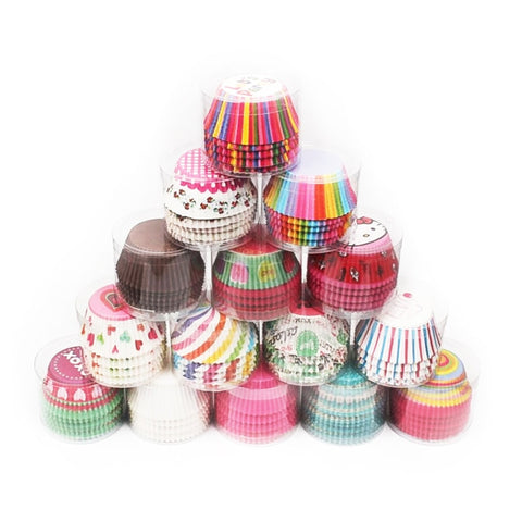 100 pack, Colorful Cupcake Liners Baking Paper Cups, Paper Liner - rollingpindepot.com