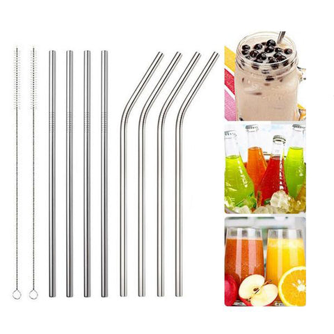High Quality Stainless Steel Straws. These eco-friendly Metal Straws come bent or straight and with a Metal Straw cleaner. Rolling Pin Depot