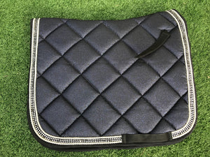 Dressage Saddle Pad - Navy Sparkle