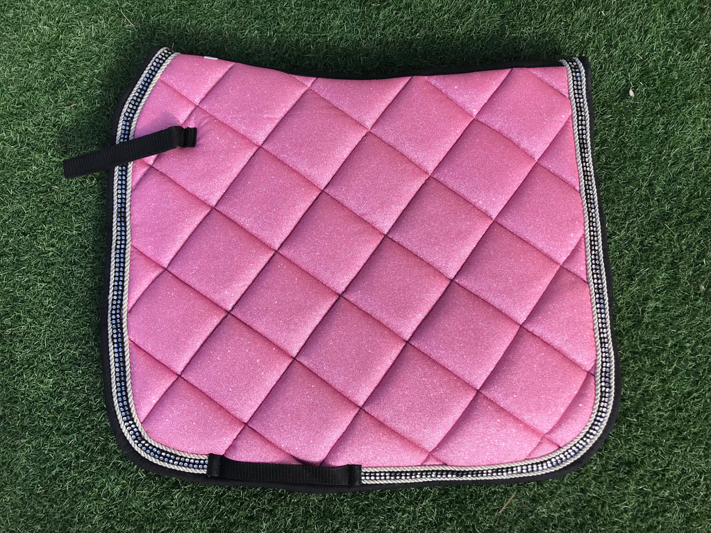 Dressage Saddle Pad - Pink Sparkle