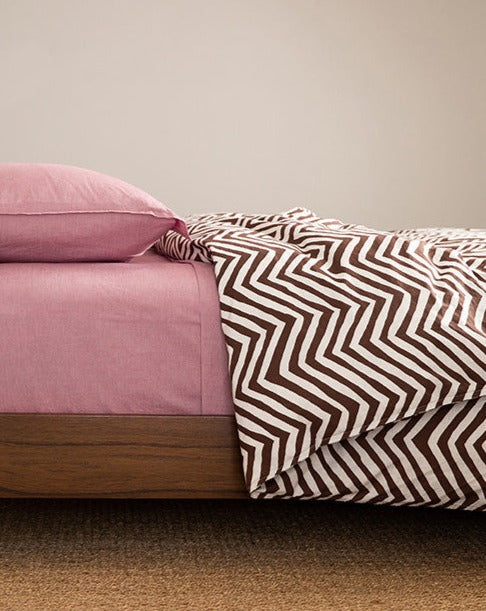 Chevron Heather Duvet Cover
