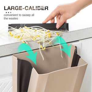 Household Car Creative Wall-mounted Folding Trash Can - bginvention
