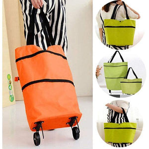 Foldable Shopping Trolley Tote Bag - bginvention