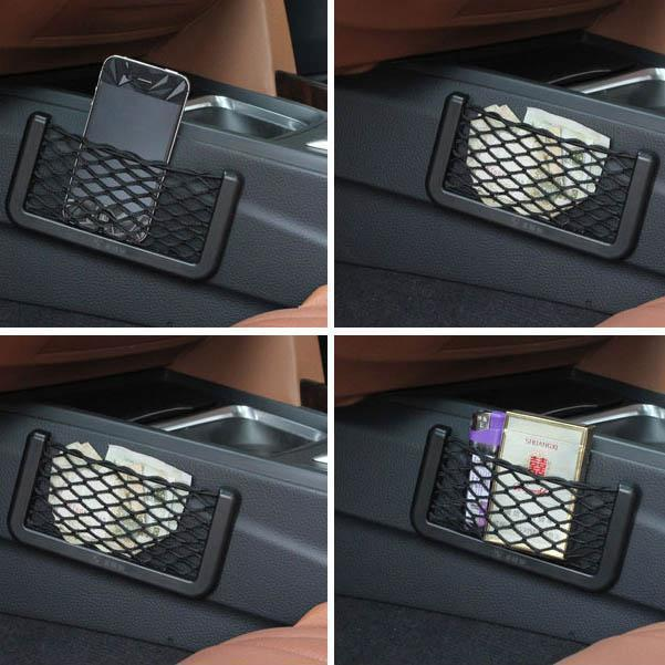Car Storage Net - Car Net Bag - Car Net Pocket for Cellphone/Wallet/Keys/Pens and More① - bginvention