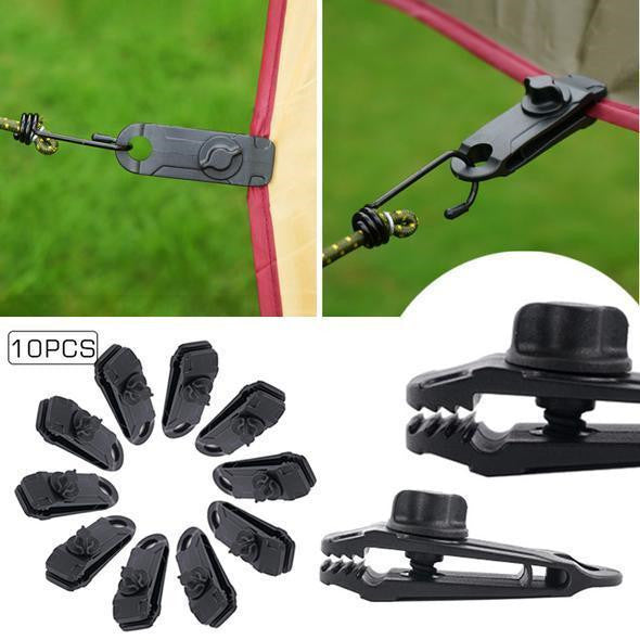 Fixed Plastic Clip For Outdoor Tent - Outdoor Tent Clips(10 PCS) - bginvention