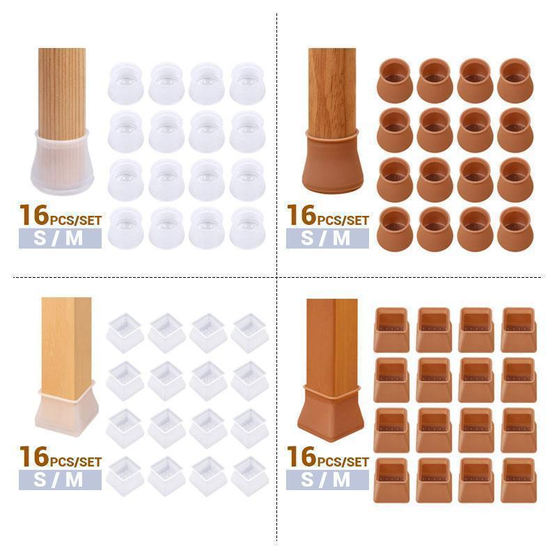 (16pcs) Furniture Chair Leg Caps - bginvention
