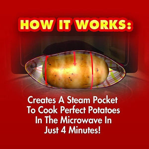 Microwave Baked Potato - Microwave Potato Cooker Bag, 3pcs - bginvention