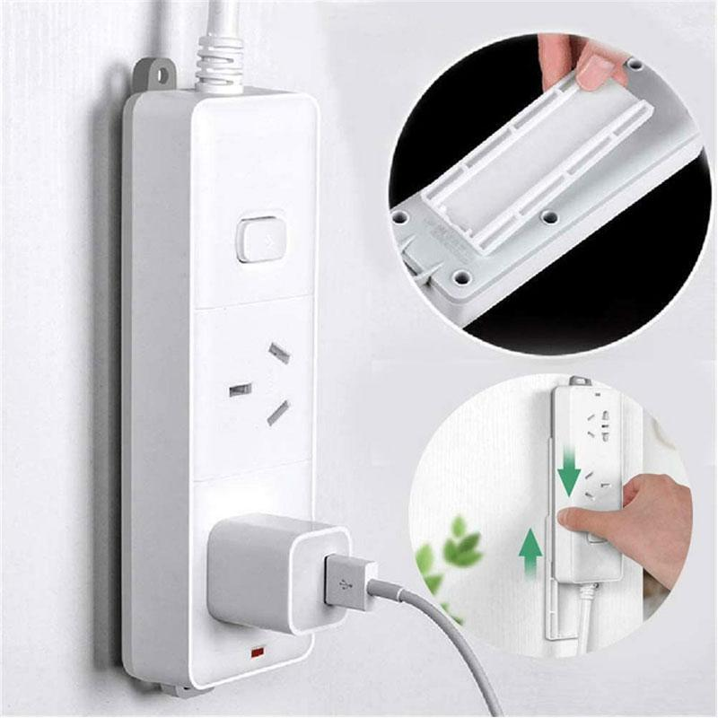Power Strip Holder - Punch-Free Wall Hanging Patch Panel Holder - bginvention